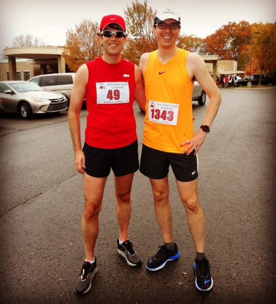 Always good to toe the starting line with this guy. However, Brian and I both found out at the Boulevard Bolt this morning that we had not fully recovered from the #marathon 3 weeks ago! Still, I'm glad to be #running and crossing another finish line.