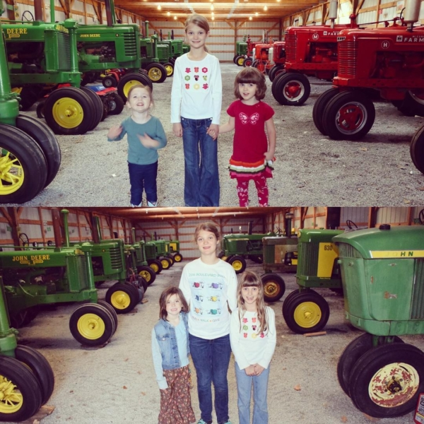 Cousins and Tractors ... 2012 / 2016. #family #tractors