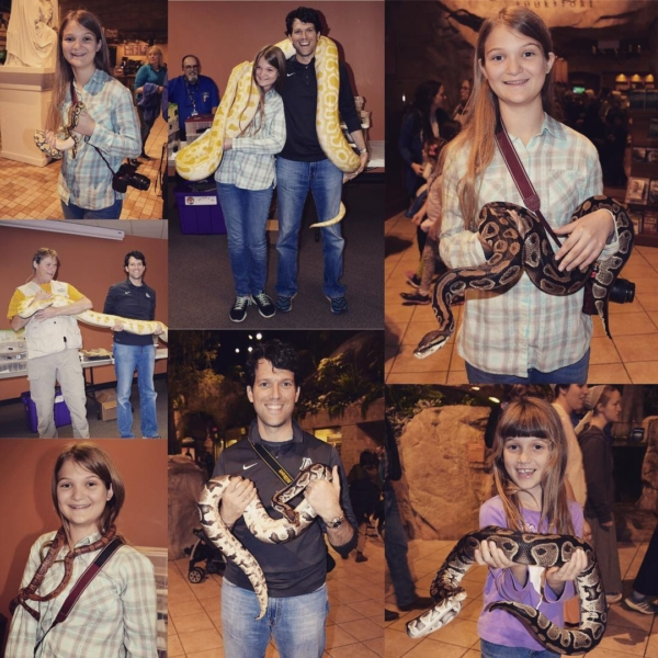 For those of you who didn't get enough of my snake picture yesterday....here are a few more. There is one member of Team Agee who is conspicuously missing from this activity! #snakes #family #travel #whydidithavetobesnakes