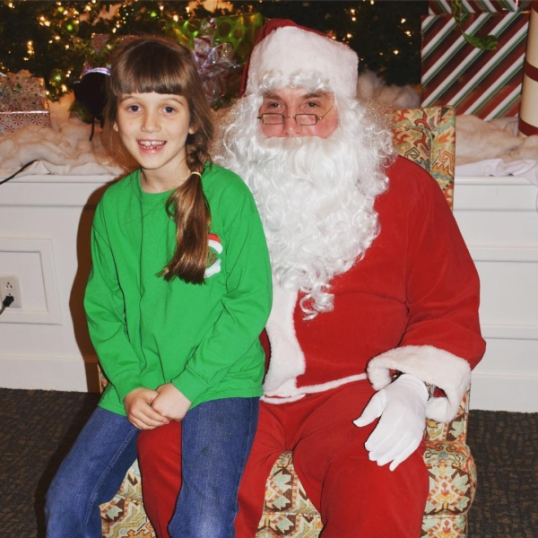 From last night's Cookies and Punch with Santa at Bellevue Church of Christ. #santa #christmas #family