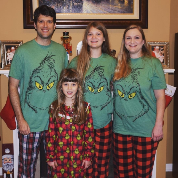 Merry Christmas from the GRINCHes of Team Agee! #family #christmas #grinch
