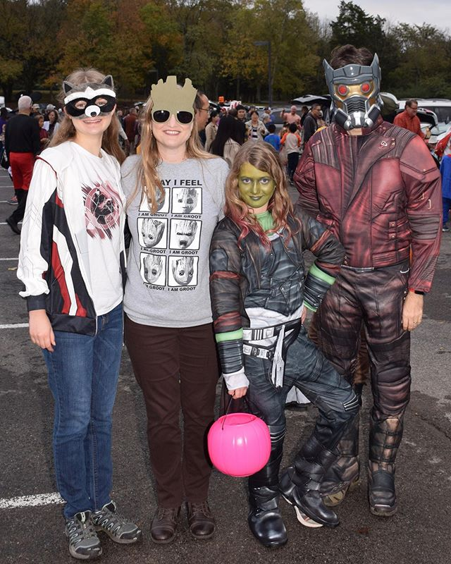 We are the Guardians of the Galaxy! #family #trunkortreat #marvel #guardiansofthegalaxy