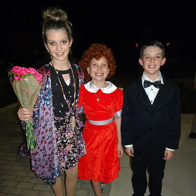 "Night no. 1 of ""Annie"" is in the books and it was so much fun! #family #musical #theater #musicaltheater #annie"