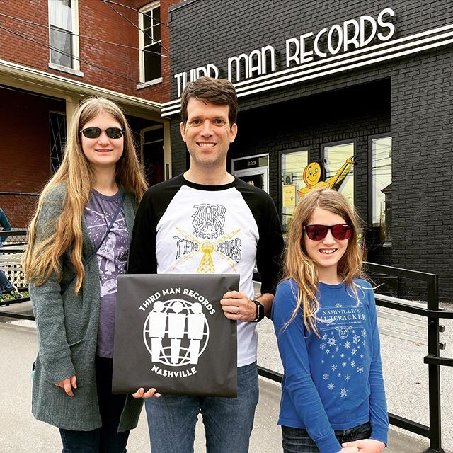 Making the rounds on Record Store Day Black Friday! @recordstoredayus @grimeys @thirdmanrecords #vinyl #family