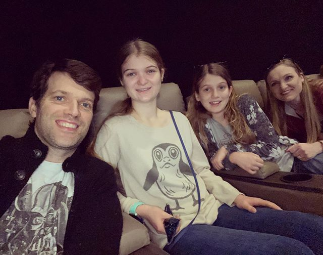 Seeing Star Wars: Rise of Skywalker for the second time. #family #starwars #riseofskywalker