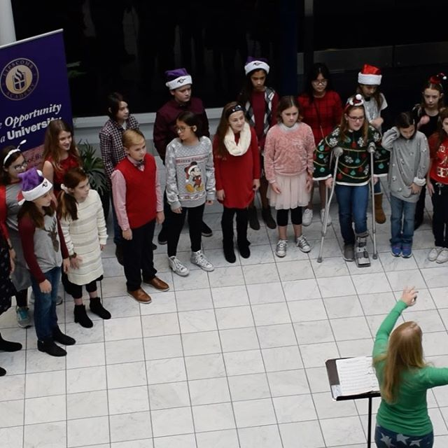 Lipscomb Academy 5th & 6th Grade Chorus performing yesterday at Green Hills Mall. @lipscombacademy #family #music