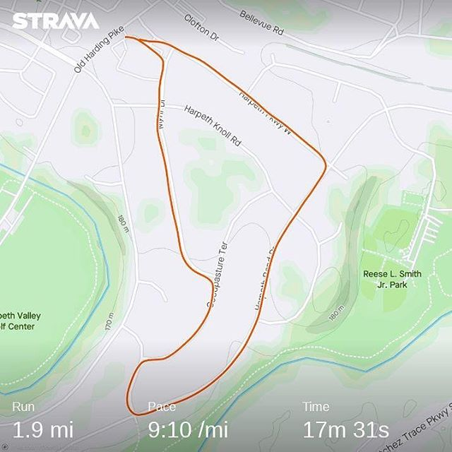 Very modest effort but this is my first run since Dec 28 and first run since surgery. Fingers crossed that my hand doesn't swell so I can keep going. #surgery #recovery #running