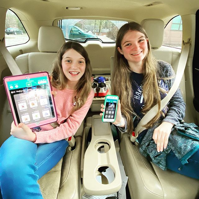 How are we fighting cabin fever during the self-quarantine? By driving around town and letting Kate and Sara play Pokemon Go (from inside the car). #family #coronavirus #covid_19 #pokemongo