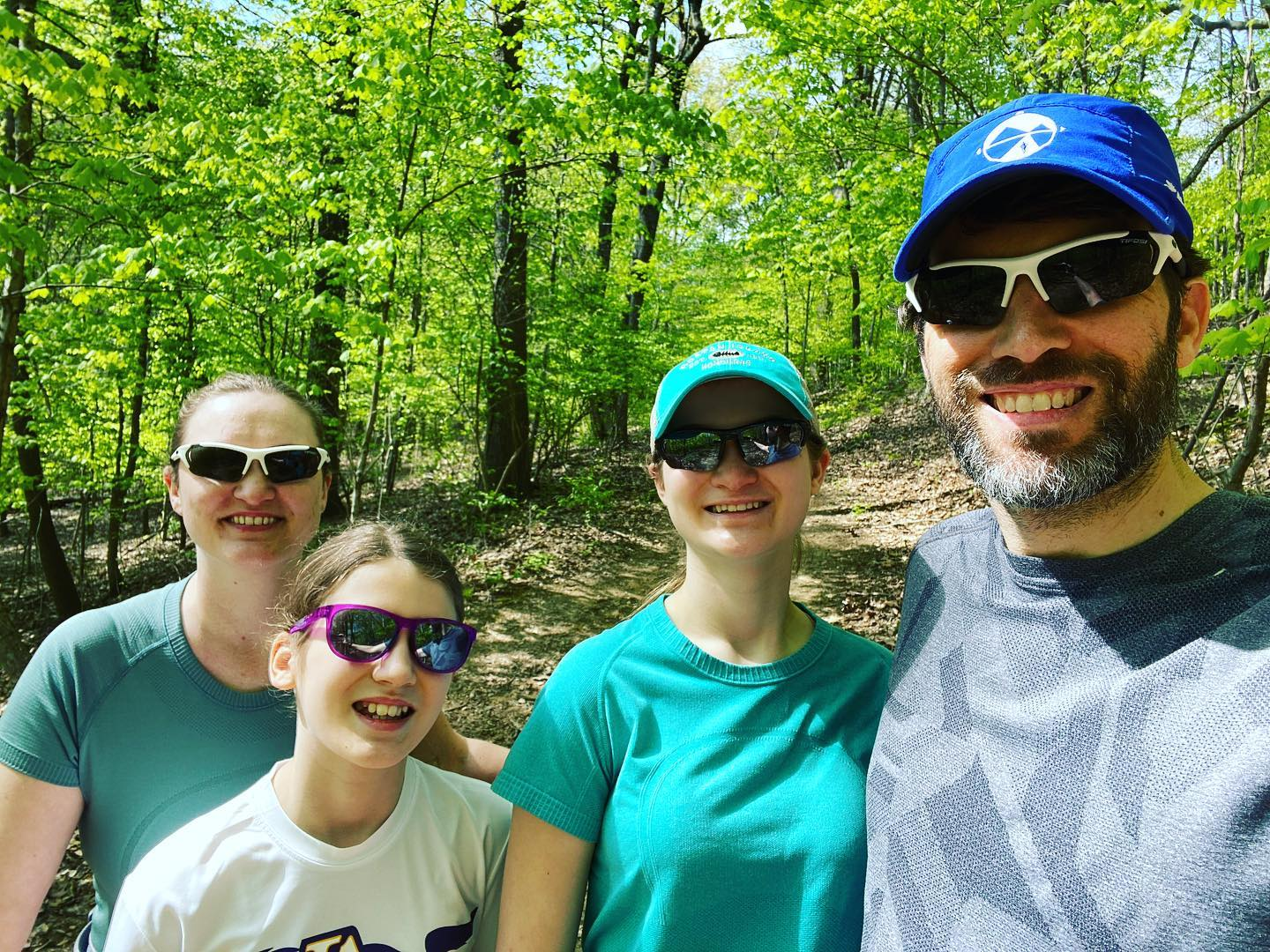 Burch Woods Trail - beautiful spring day for a hike. #family #hiking