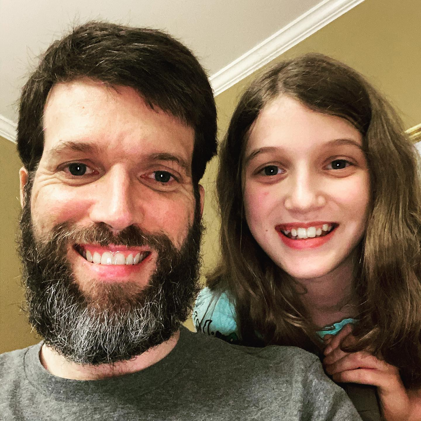 Self Quarantine Beard Update - Day 90 ... got a haircut yesterday but the beard is still going strong. Sara wants me to make it to day 100 before I trim it. Gonna give it a shot. #family #beard