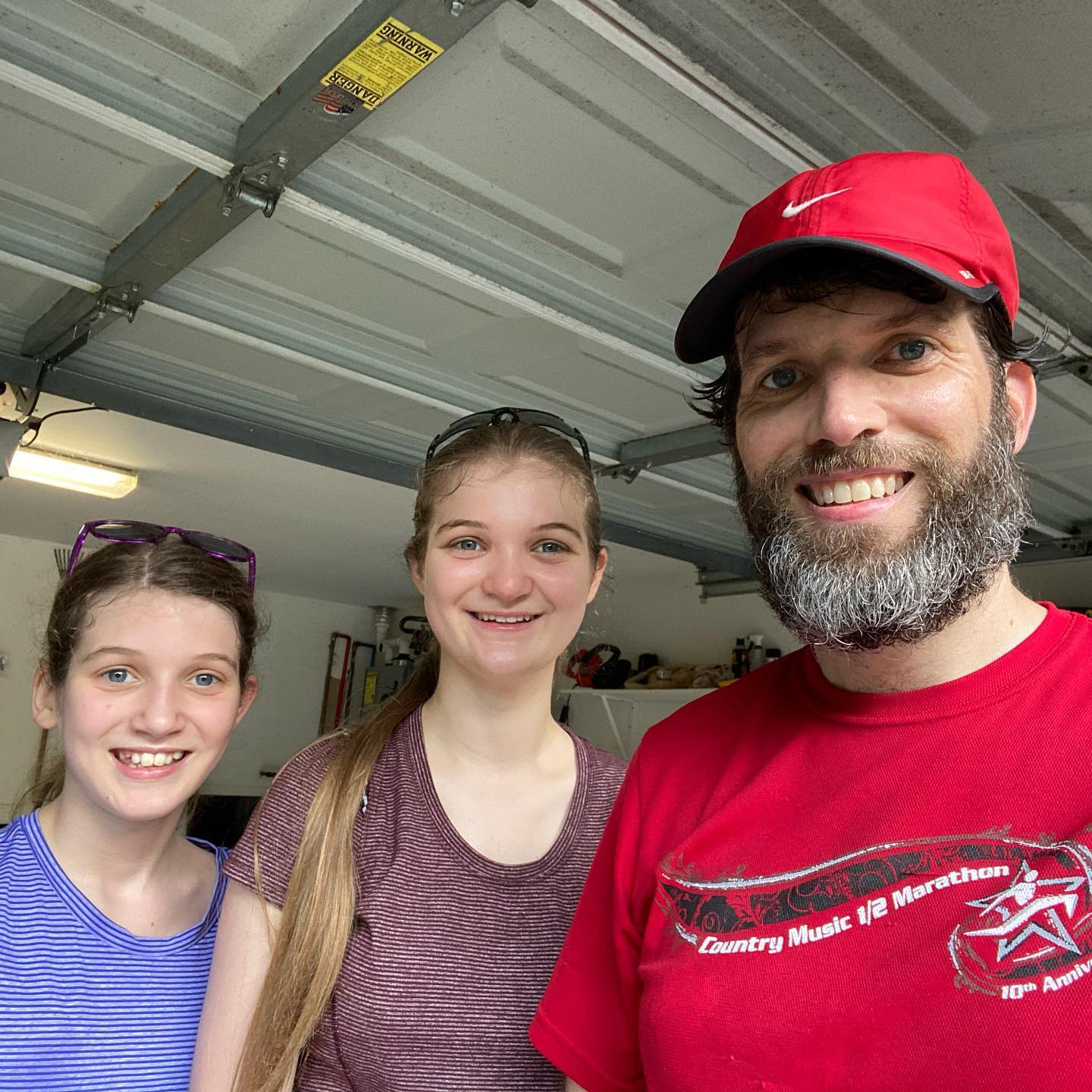 The girls keep on pushing me to work hard. Today we did 1.25 miles of hill repeats followed by a session of P90X Kenpo X. This was after I had done a brisk 3-mile run....I'm tired! #family #running #workout