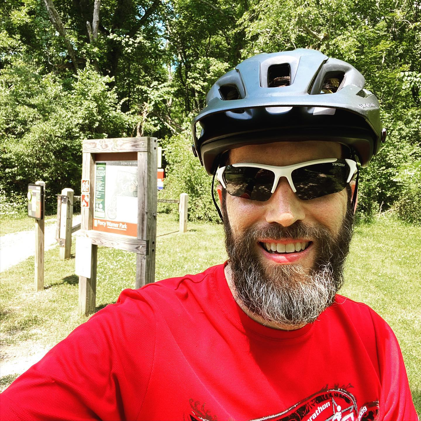 First time on the mountain biking trails since my hand surgery. I survived, but the trails humbled me. #mountainbike #biking