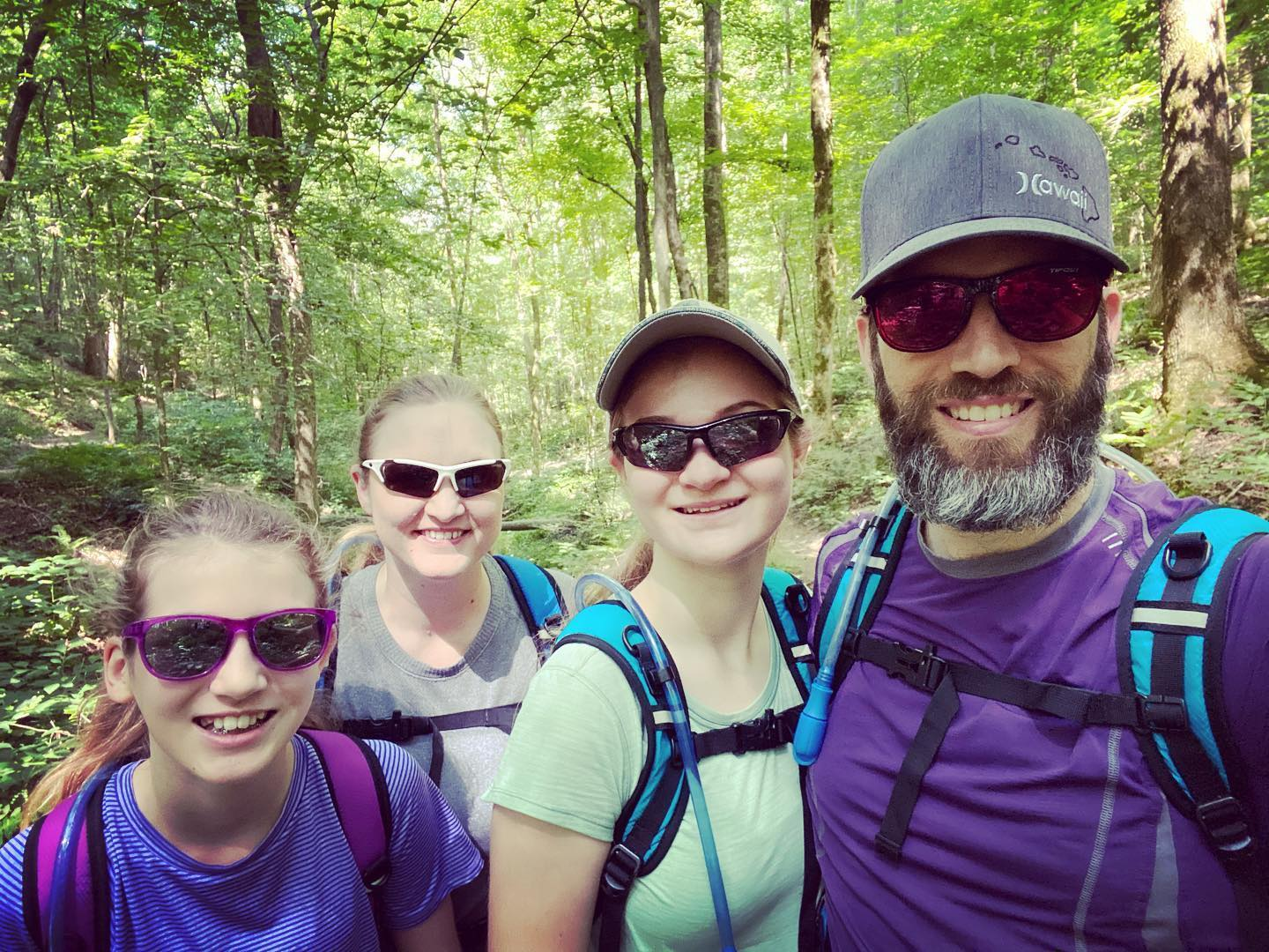 We had quite an adventure hiking the Garrison Creek Loop along the Natchez Trace today. #family #hiking