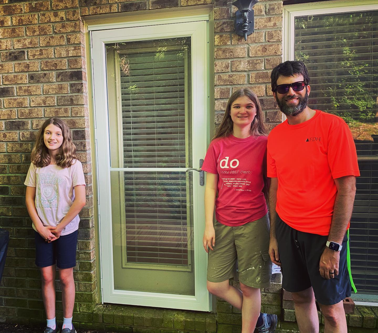 "I'm generally not very ""handy"" but this afternoon the girls and I installed not one but TWO storm doors on our house. Was actually a pretty fun project! #family"