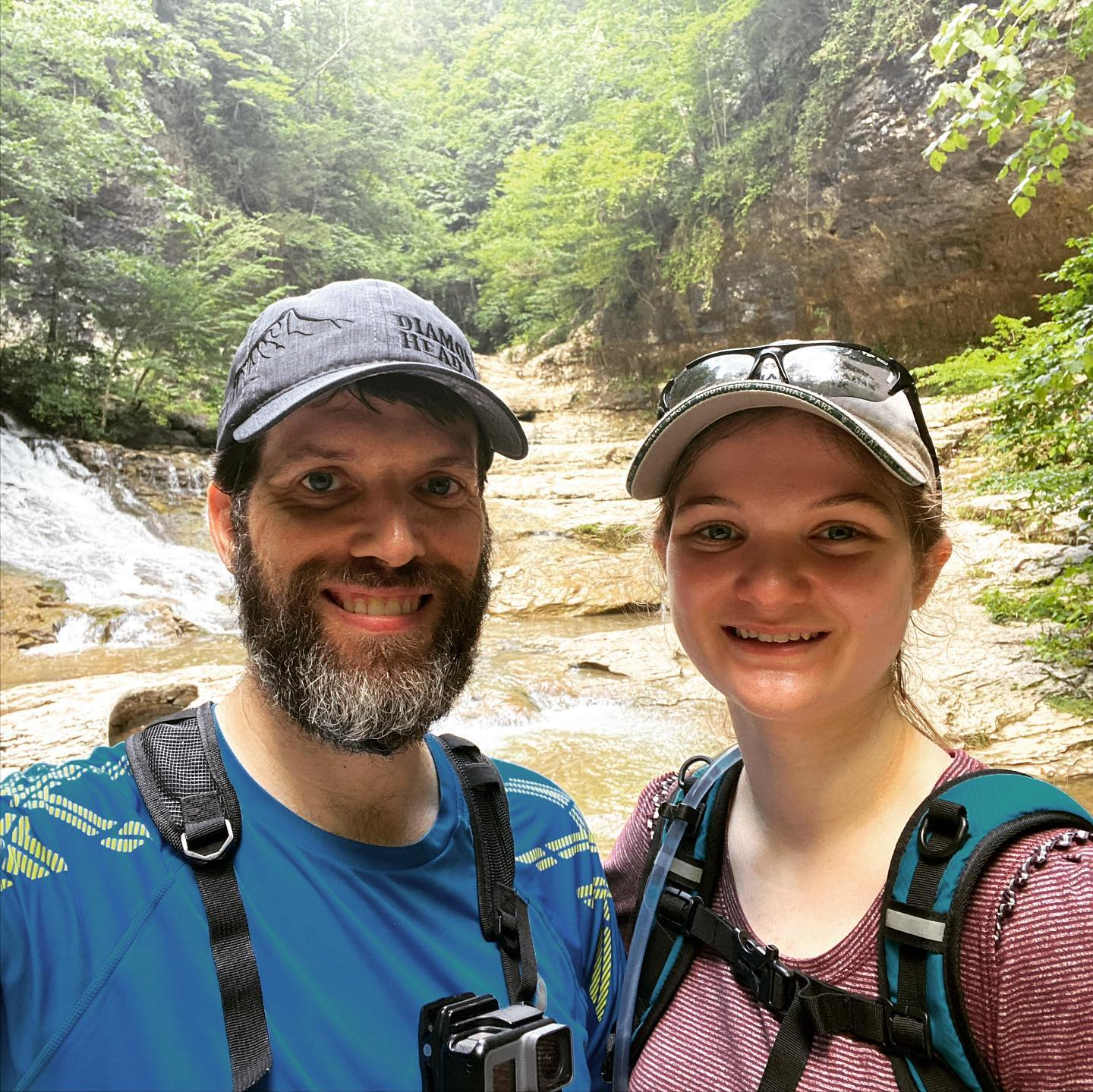 "Yesterday @kateagee and I went down to the TN / AL border and spent the day hiking to Mill Creek and the Walls of Jericho. The ""walls"" and waterfalls were stunning and were a great payoff in the middle of a very tough hike. In total we did approximately 14-miles with over 2,000 ft of elevation gain. It was a great daddy-daughter day. #family #hiking"