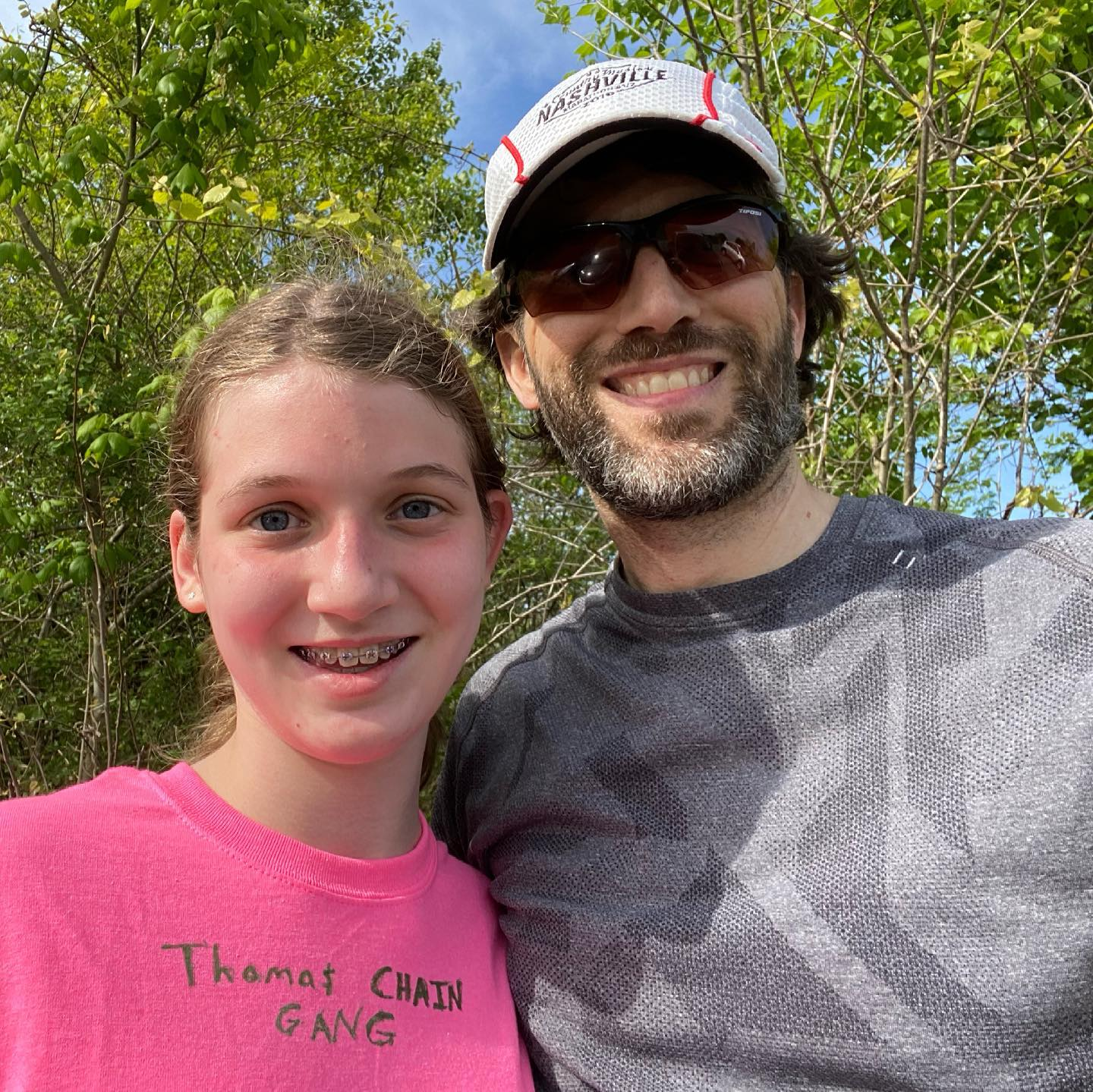 Finished a 2-mile run with this cutie today. She asked if I would help her start training for the fall cross-country season. This means that my sabbatical from running is now over, and it felt good to get out there again. #family #running