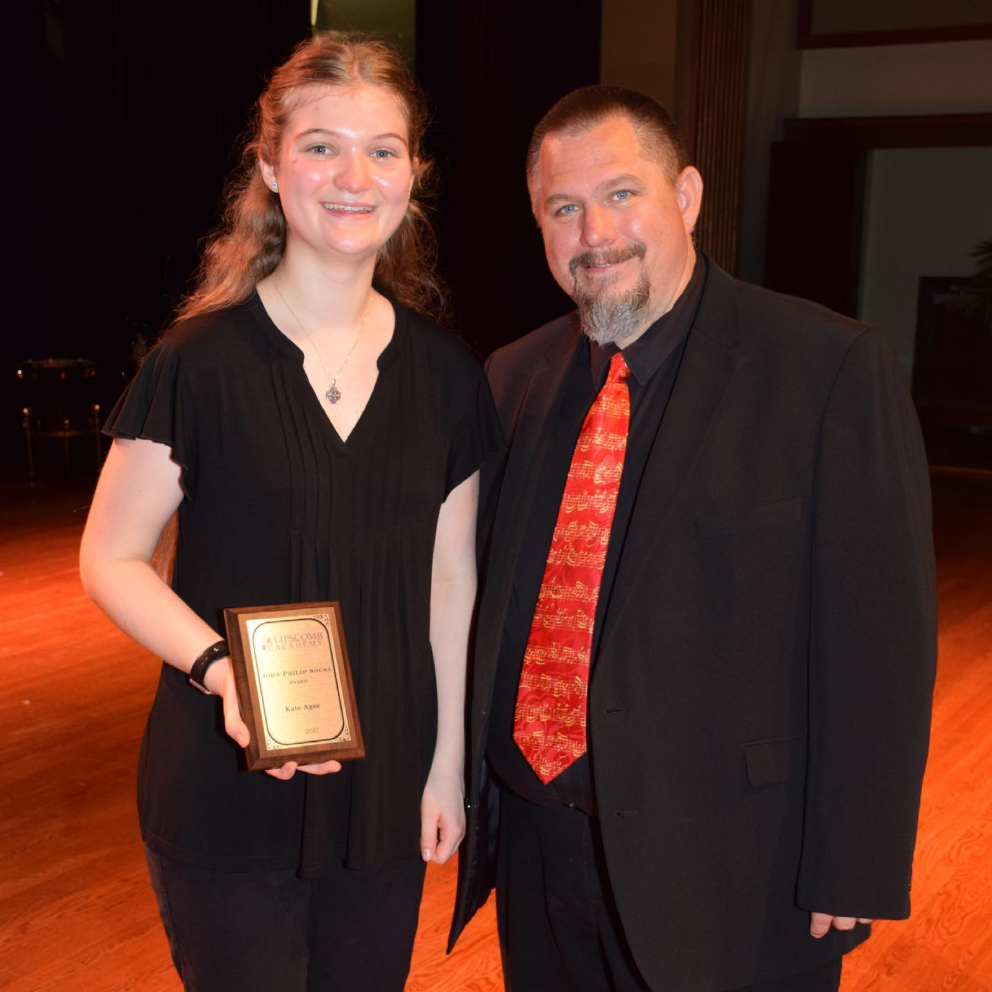 Congrats to @kateagee on being selected as the John Philip Sousa Award winner for the @lipscombacademy High School Band. This is quite an honor and we are SUPER proud of her!!! #highschoolband #music #flute #family