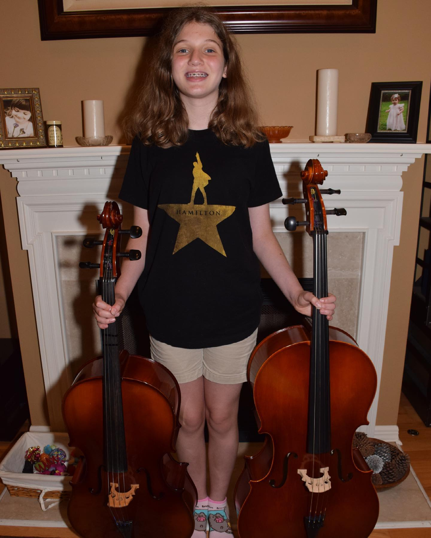 Graduating from a 3/4 size cello to a full size model. #family #music #cello