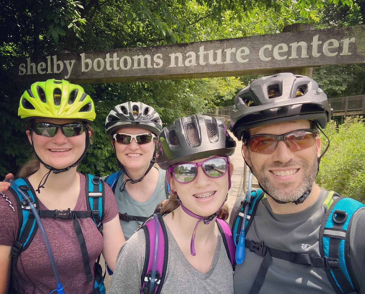 Super fun day biking (and playing) at Shelby Bottoms, Cornelia Fort Airpark, and the Stones River Greenway. #family #biking