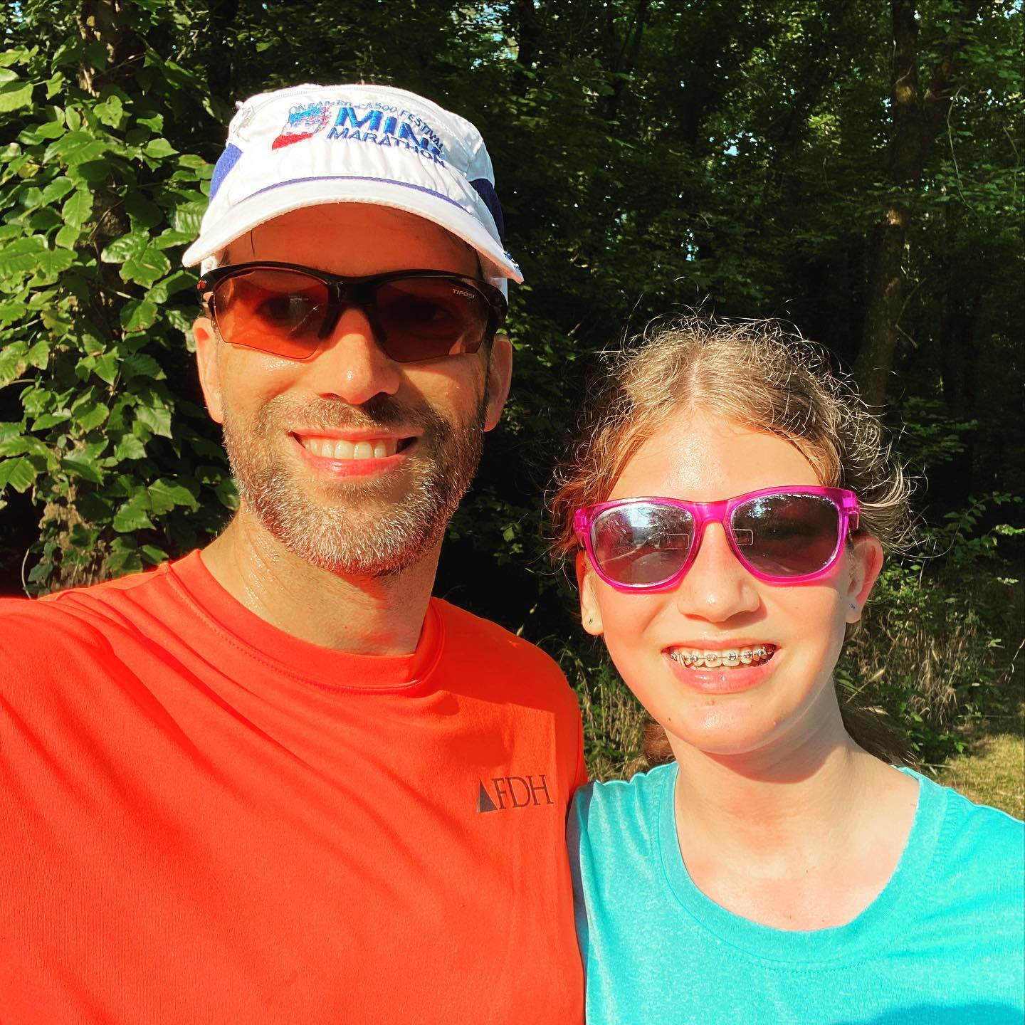 When Sara started training for cross country at the beginning of summer she had absolutely no running base and today she just ran 5K (3.1 miles) with no walk breaks for the first time. So proud of how hard she has been working and it has been a lot of fun running with her as she steadily progresses. #family #running